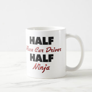 Half Race Car Driver Half Ninja Basic White Mug