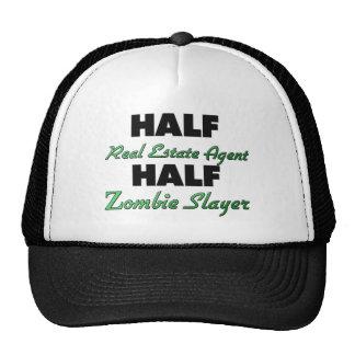 Half Real Estate Agent Half Zombie Slayer Trucker Hat