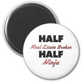 Half Real Estate Broker Half Ninja 6 Cm Round Magnet