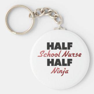 Half School Nurse Half Ninja Key Chain