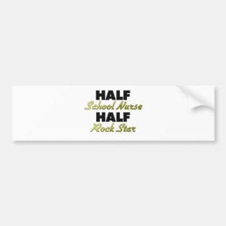 Half School Nurse Half Rock Star Bumper Stickers