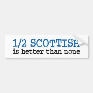 Half Scottish Bumper Sticker