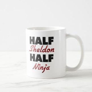 Half Sheldon Half Ninja Basic White Mug
