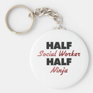 Half Social Worker Half Ninja Key Ring