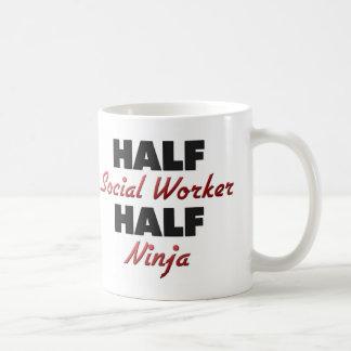 Half Social Worker Half Ninja Mugs