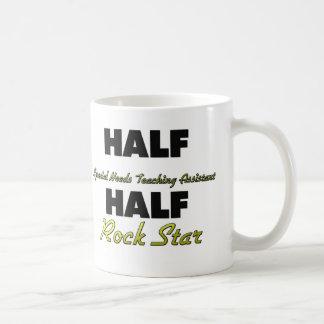 Half Special Needs Teaching Assistant Half Rock St Basic White Mug
