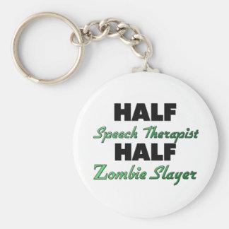 Half Speech Therapist Half Zombie Slayer Basic Round Button Key Ring