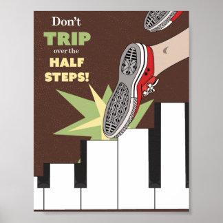 Half Steps Music Poster