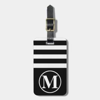 Half Stripe Monogrammed Luggage Tag