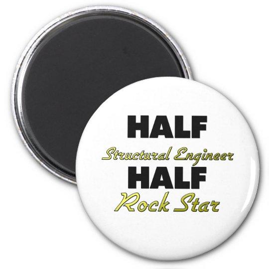 Half Structural Engineer Half Rock Star 6 Cm Round Magnet