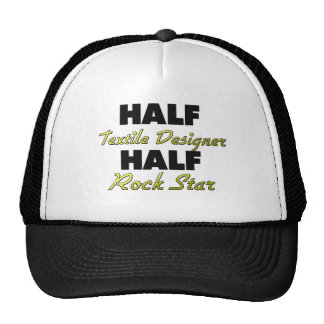 Half Textile Designer Half Rock Star Mesh Hats