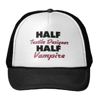 Half Textile Designer Half Vampire Mesh Hats