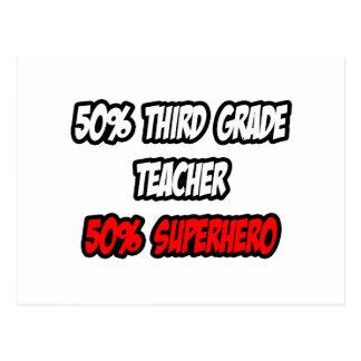 Half Third Grade Teacher...Half Superhero Post Cards
