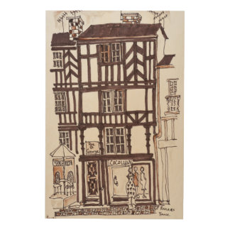 Half-timbered Building | Rennes, Brittany, France Wood Wall Art
