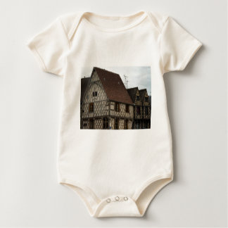 half-timbered house baby bodysuits