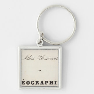 Half Title Atlas universel Oceania Silver-Colored Square Key Ring