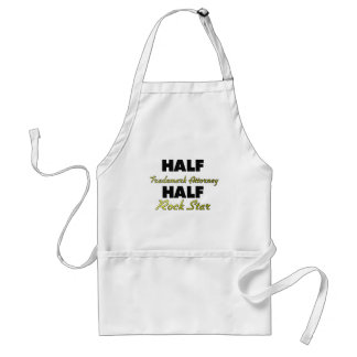 Half Trademark Attorney Half Rock Star Standard Apron