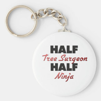 Half Tree Surgeon Half Ninja Basic Round Button Key Ring