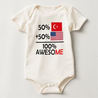 Half Turkish Half American Baby Bodysuit