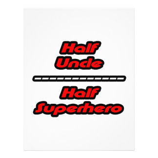 Half Uncle Half Superhero 21.5 Cm X 28 Cm Flyer