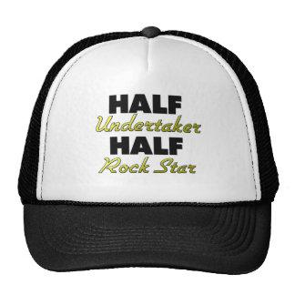 Half Undertaker Half Rock Star Mesh Hats