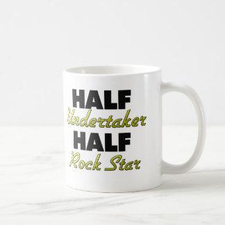 Half Undertaker Half Rock Star Classic White Coffee Mug