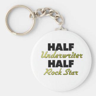 Half Underwriter Half Rock Star Key Ring