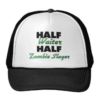 Half Waiter Half Zombie Slayer Hats