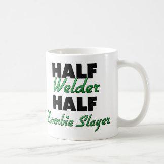 Half Welder Half Zombie Slayer Basic White Mug