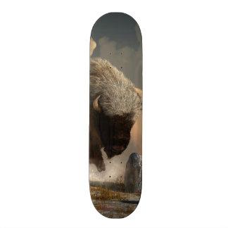 Half White Bison 21.3 Cm Mini Skateboard Deck