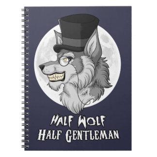 Half-Wolf Half-Gentleman Spiral Photo Notebook