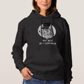 Half-Wolf Half-Gentleman Women's Hooded Sweatshirt