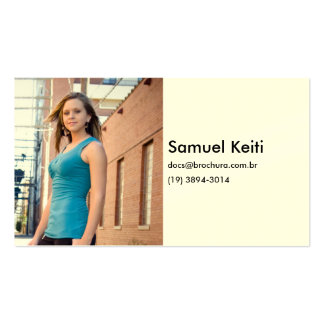 Half Woman Business Card Template