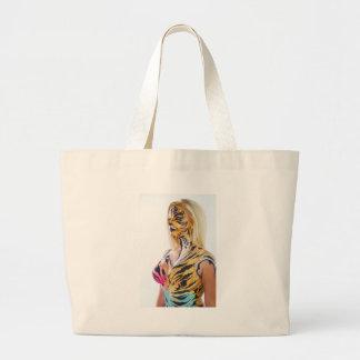 Half woman / Half Tiger Tote Bags