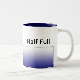 halfFull-rt, halfFull-lft Two-Tone Mug