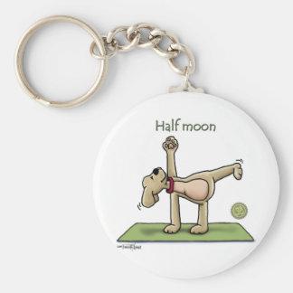Halfmoon Yoga Time Basic Round Button Key Ring