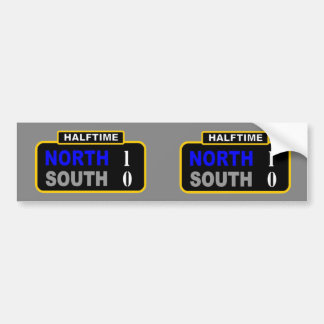 HALFTIME (2 for one) Bumper Sticker