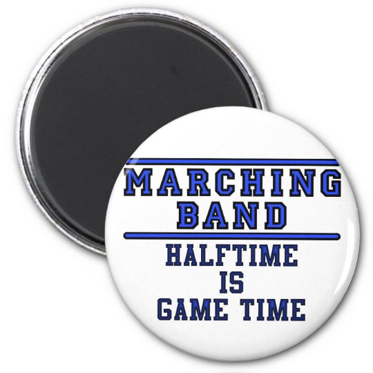 Halftime Is Game Time! 6 Cm Round Magnet