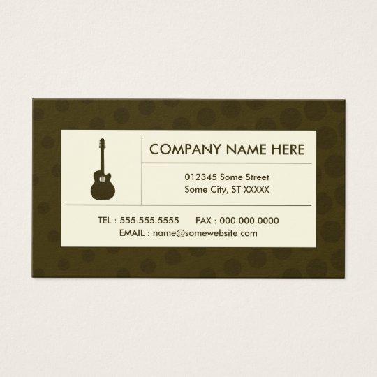 halftone acoustic guitar business card