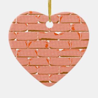 Halftone Brick Wall Ceramic Heart Decoration