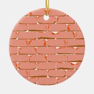 Halftone Brick Wall Christmas Ornament