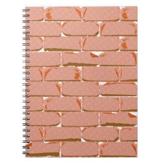 Halftone Brick Wall Spiral Notebook