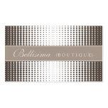Halftone Dots Mocha Business Card