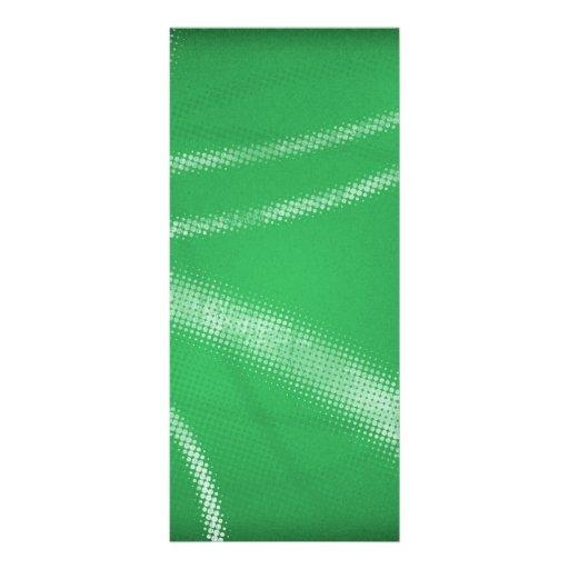 HALFTONE DOTTED GRASSY GREEN WHITE DIGITAL SWIRLS RACK CARD