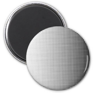 Halftone Faded Grid 6 Cm Round Magnet
