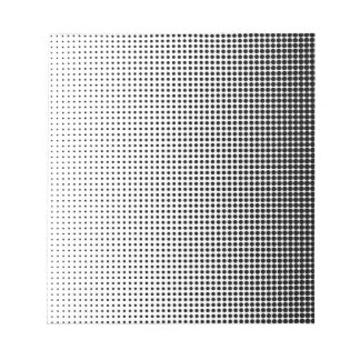 Halftone Faded Grid Notepad