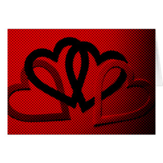 Halftone Hearts Cutout Greeting Card