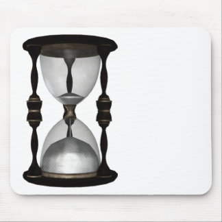 Halftone Hourglass Sand Timer Mouse Mat