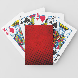Halftone pattern background bicycle playing cards