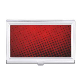 Halftone pattern background business card holder